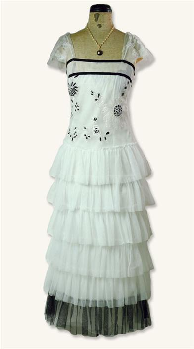 NOIR ET BLANC CORSET DRESS