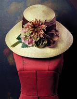 PRETTY PERENNIALS LAMPSHADE HAT