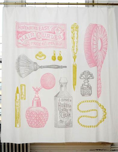 VANITY TREASURES SHOWER CURTAIN