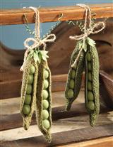 BURLAP PEA PODS (SET OF 4)