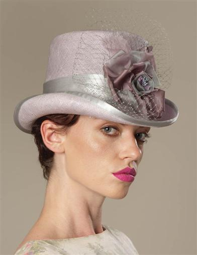 LOUISE GREEN LAVENDER RIDING HAT