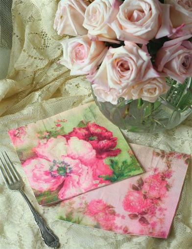 COTTAGE PERENNIALS PAPER NAPKINS (SET OF 16)