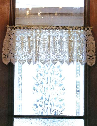 MACRAME PINEAPPLE LACE VALANCE
