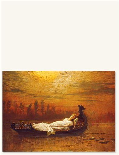 LADY OF SHALOTT PRINT
