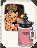 BOUQUET OF ROSES CANDLE (SMALL JAR)