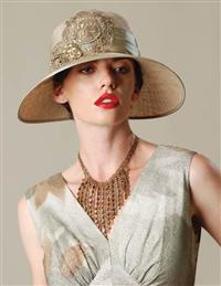 LOUISE GREEN FRENCH LACE SISAL HAT