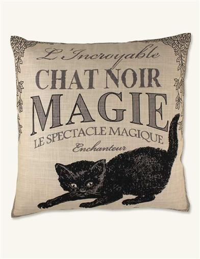 'BLACK CAT MAGIC' TOSS PILLOW