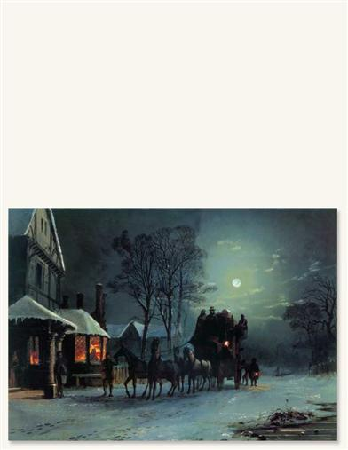 ARRIVING AT THE INN PRINT