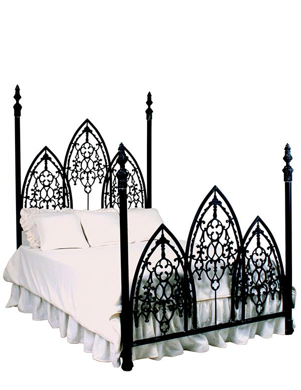 French gothic iron bed wrought iron bed for Gothic style beds for sale