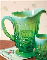 EYE WINKER OPAL GLASS PITCHER