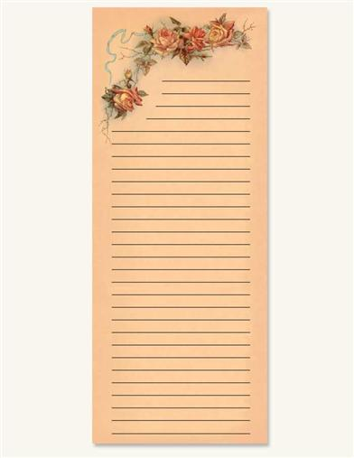 CHINA ROSE MEMO PAD