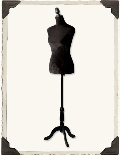 BLACK VELVET DRESSFORM