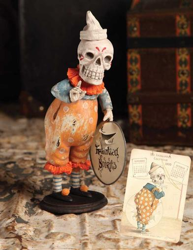 CALENDAR SKELETON CLOWN