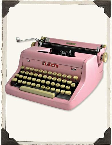 ROYAL QUIET DELUXE ROSE TYPEWRITER