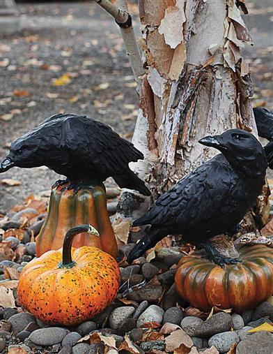 RAVEN ON GOURD (SET OF 3)