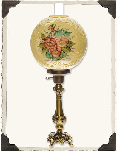EDISON'S PANSIES ELECTRIC LAMP