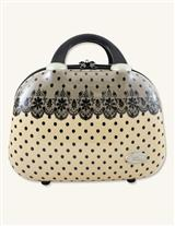 CREAM WITH BLACK LACE TRAVEL CASE