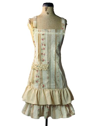 10 Things to Do with Vintage Aprons Liserette Striped Roses Apron $29.95 AT vintagedancer.com