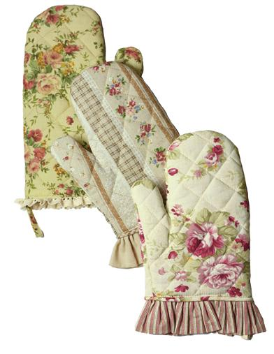 10 Things to Do with Vintage Aprons Primrose Oven Mitts Set Of 3 $24.95 AT vintagedancer.com