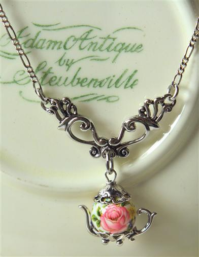 Victorian Costume Jewelry to Wear with Your Dress Victorian Dangle Teapot Necklace $35.99 AT vintagedancer.com