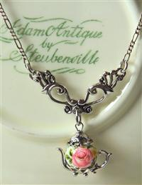Victorian Dangle Teapot Necklace