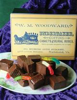 DIRT & WORMS FUDGE IN UNDERTAKER TIN