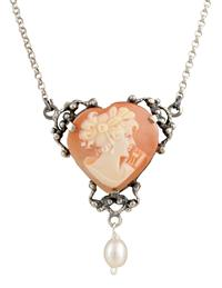 Heart Cameo Necklace