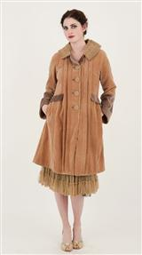 BUTTERSCOTCH VELVET COAT