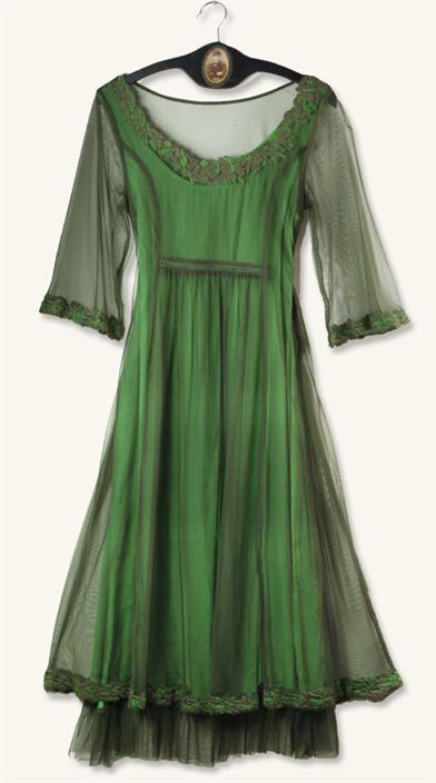 SMOKY EMERALD DRESS
