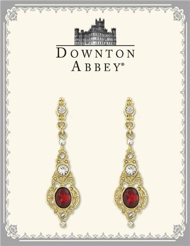 LADY MARY'S CRIMSON EARBOBS