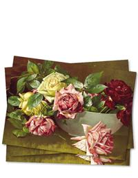 Bowl Of Roses (Pkg Of 6 Blank Cards)