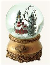 LITTLE RED CHAPEL SNOWGLOBE