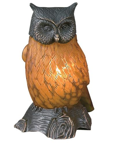 Edwardian Owl Lamp (C. 1915)