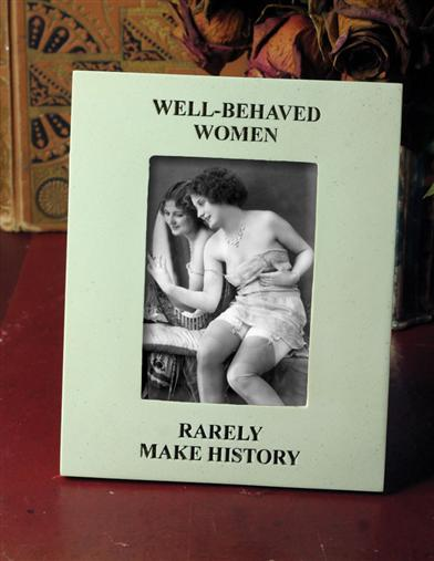 WELL BEHAVED WOMEN MARBLE PICTURE FRAME
