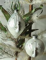 PEACOCK ORNAMENTS (PAIR)