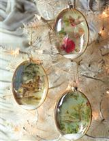 SNOWY COTTAGE ORNAMENTS (SET OF 3)