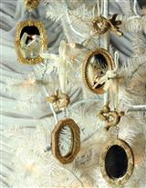 Gilt Mirror Ornaments (Set Of 4)