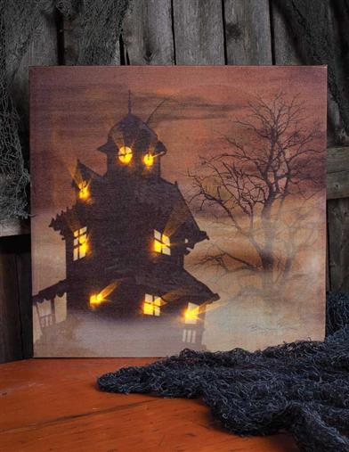 ILLUMINATED MANSION CANVAS
