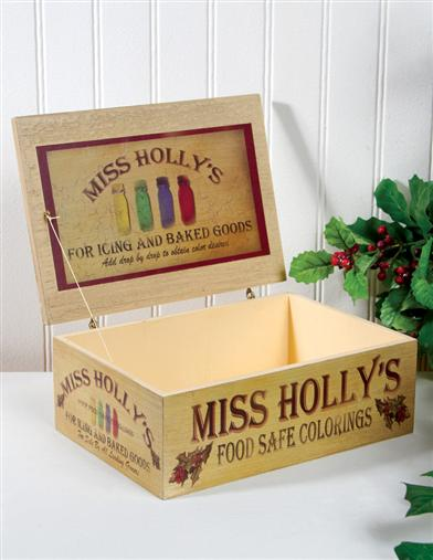 MISS HOLLY'S FOOD COLORING BOX