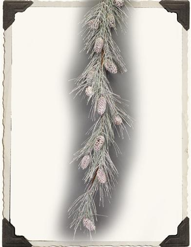 CRYSTALLIZED WOODS PINECONE GARLAND