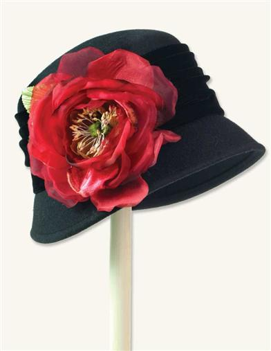 1920s Hat Styles for Women- History Beyond the Cloche Hat Poppy Hat $79.99 AT vintagedancer.com
