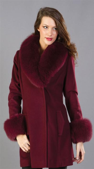 CASHMERE & FOX COAT