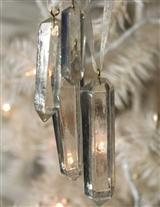 QUARTZ CRYSTAL ORNAMENTS (SET OF 4)