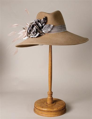 1930s Style Hats | 30s Ladies Hats Louise Green Adventuress Fedora $329.95 AT vintagedancer.com