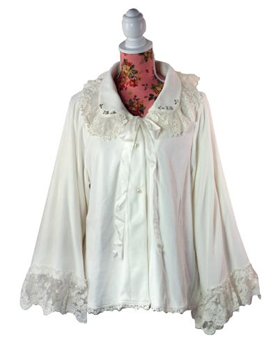 1920s Lingerie History- Slips, Steps Ins, Robes, Night Gowns and Bed Caps Beguiling Bedjacket $99.95 AT vintagedancer.com