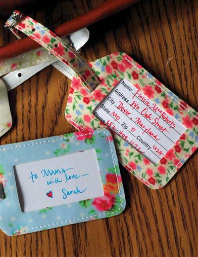 FLORAL LUGGAGE TAGS (SET OF 3)