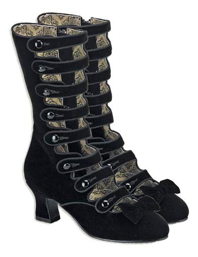 Easy DIY Edwardian Titanic Costumes 1910-1915 Cabaret Velvet High Tops 9 Black $79.99 AT vintagedancer.com