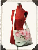 'WATERCOLOUR ROSES' HER MESSENGER BAG