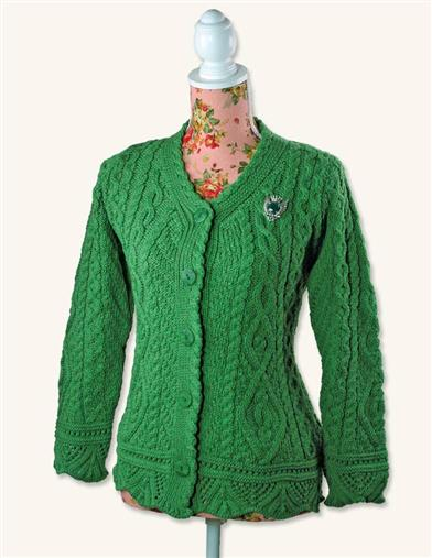 Vintage Sweaters – 1910s, 1920s, 1930s Pictures Dublin Dearie Irish Wool Cardigan $90.99 AT vintagedancer.com
