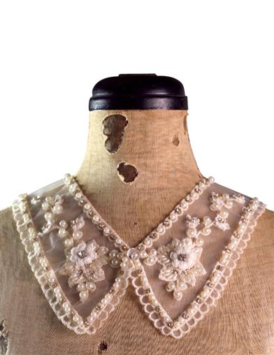 Vintage & Retro Shirts, Halter Tops, Blouses Victoria Lace Collar $19.95 AT vintagedancer.com